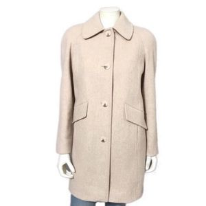 East 5th | Oatmeal Wool Blend Trench Coat Sz-Small